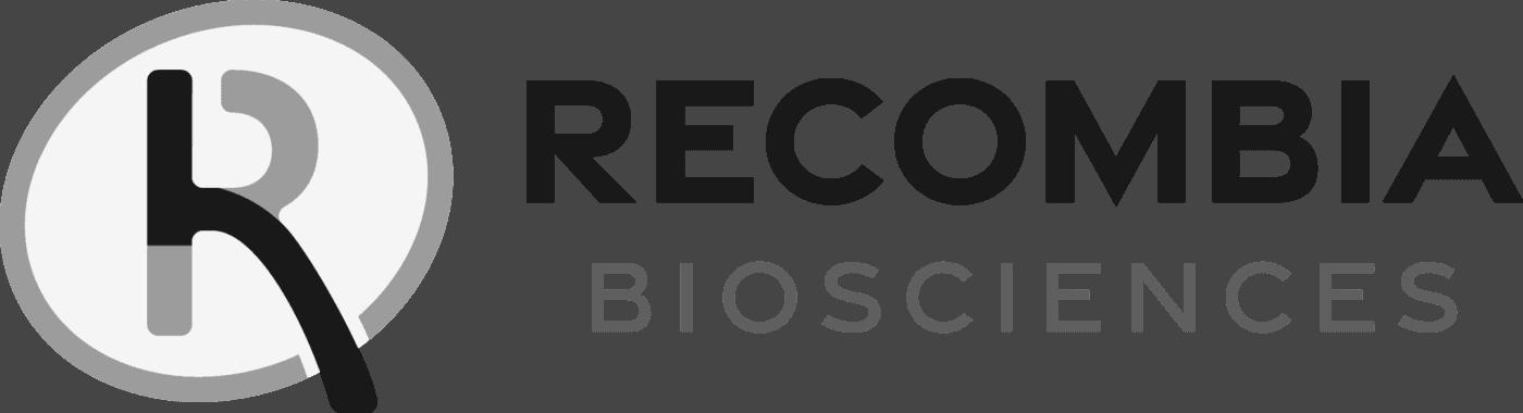 recombia horizontal logo grayscale