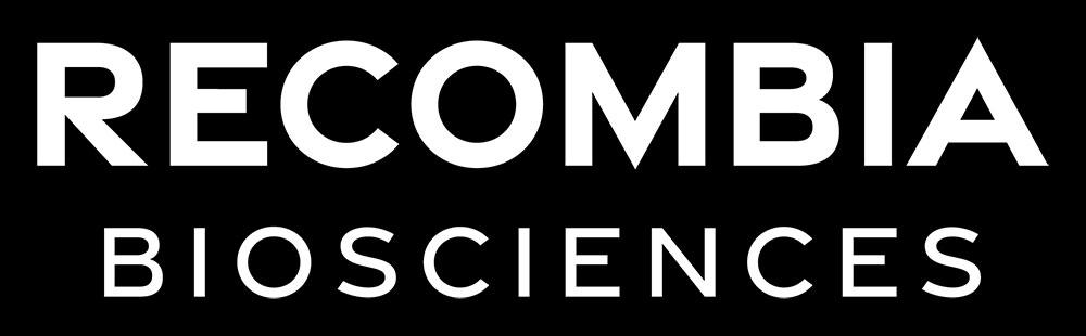 Recombia Biosciences Wordmark Reversed Dark BG